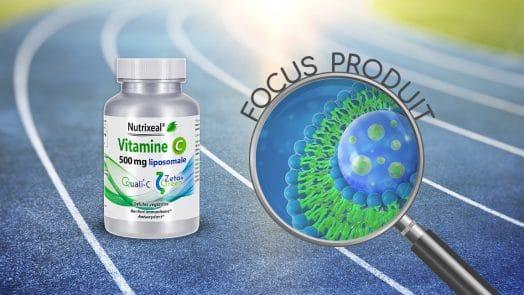 Focus produit vitamine C liposomale en gélule de Nutrixeal.