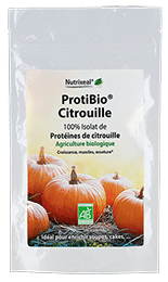 ProtiBio citrouille Nutrixeal, riche en protéines.