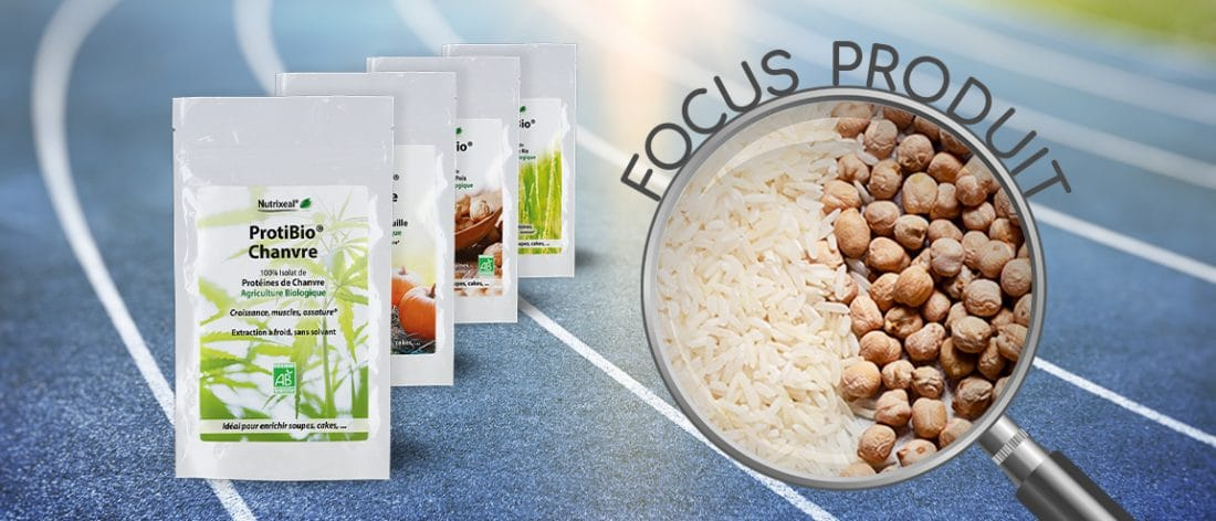 Focus produit sur la gamme de protéines végétales ProtiBio Nutrixeal.